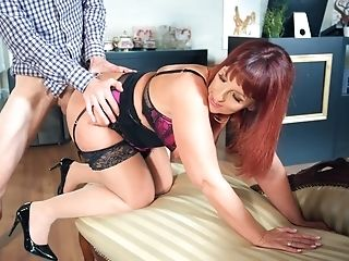 Crazy Scenes Of Couch Fucking For The Cock-squeezing Matures Auntie