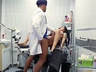 Nasty Gynecologist Drilling The Vulva Of Amazing Bianka Blue