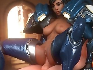 Overwatch Heroes Getting Dick Treatment In Different Positions While Sucking Dick