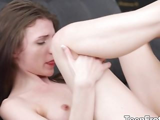 Slender And Smallish Titted Nelya Jordan Takes A Big Man Sausage In Her Mouth And Cunt