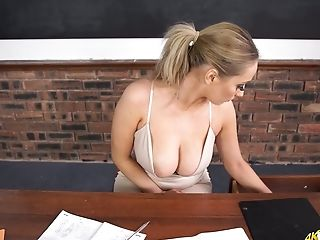 Filthy Tutor Rachael C And Her Popping Out Of Tee-shirt Baps