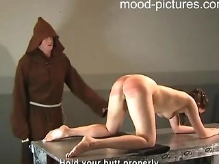 Exotic Dark Haired Dame Shrieks While A Horny Stud Penalizes Her Butt