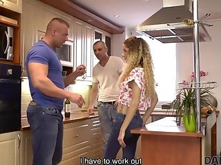 Daddy4k. Curly-haired Honey And Matures Man Attempt Old And Youthfull Fuck-fest