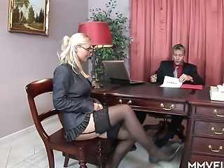 Bang-out-appeal Assistant In Stockings Helena Sweet Makes Her Manager Relieving