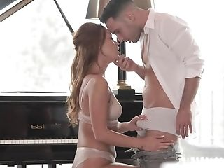 Piano Lesson And Anal Invasion Practising Of Alluring Teenage Colleen
