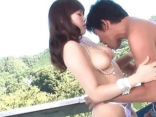 Horny Asian Duo Is Having Copulation On The Balcony