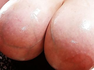 Chubby Mummy Shows Her Oiled Monsters