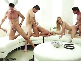 Lucy Tyler And Other Nymphs Get Their Cunts Banged On The Couch