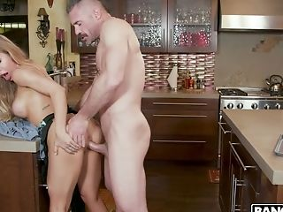 Sinful Big-titted Blonde Milfie Housewife Nicole Aniston Rails Dick In The Kitchen