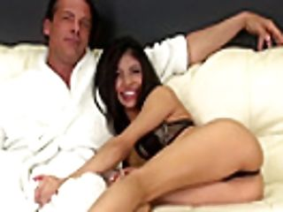 Skinny Little Veronica Rodriguez Gets The Man Meat Rail Of Her Life, And His Jizz
