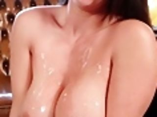 Dark Haired Beauty Alison Gets Jizm All Over Her Gigantic Tits