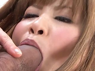 Beautiful Japanese Blonde Mummy Loves Having Her Mouth Packed