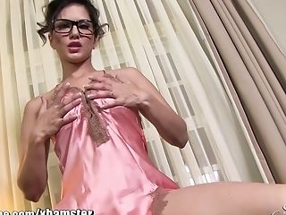 Sunnyleone Sexiest Dirty Pink Undergarments On Sunny Leone