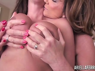 Ariella Ferrera And Deauxma Loves To Have Fun With Their Big, Chubby Tits As You Will See.