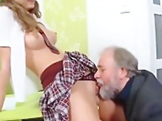 Guiltless Student Is Seduced And Pounded By Her Older Tuto