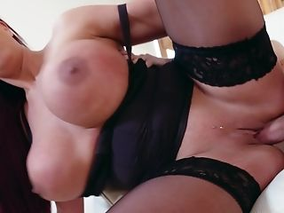 A Sandy-haired With Hefty Tits Is Getting Her Puss On Her Stepson
