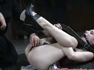 Ball-gagged Bottom Being Trained With Sextoys