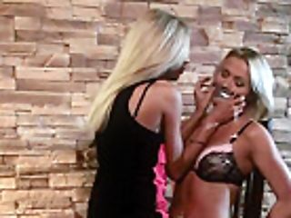 Lesbian Domination Mistress Belt Dick Fucks A Sub Beauty