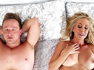 Cock-squeezing Matures Perceives Youthfull Step Son-in-law Fucking Her Like A Bull