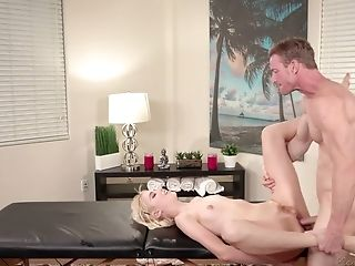 Skinny Blonde Chloe Cherry Is Fucked By Hot Tempered Massagist