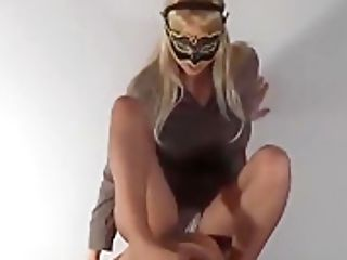 Pantyhose Footjob On Mask
