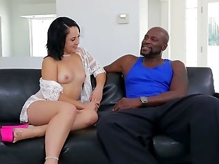 Playful Dark-haired Kristina Rose Gives Interview With Her Fuck-fest Accomplice