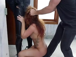 Sweetie Trainee Loves Rough Butt Fucking Orgy