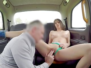 Bitchy Minx Lina Luxe Gives It Up To A Much-older Cab Driver