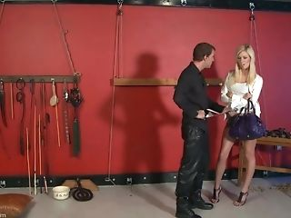 Sexy Blonde Tied Up And Gets Her Puss And Titties Pleased By Her Paramour