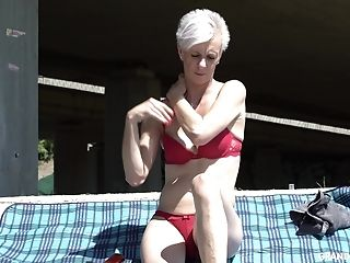 Skinny Matures Brief Haired Granny Puss Ate Outdoors