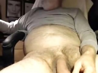 Wordy Grandfather Unloads His Ample Hairy Fuckpole