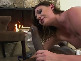 Jessica Rex Has Interracial Romp Activity At Fireplace