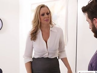 Appetizing Big-titted Cougar Julia Ann Is Fucked Right On The Table By Johhny Mountain