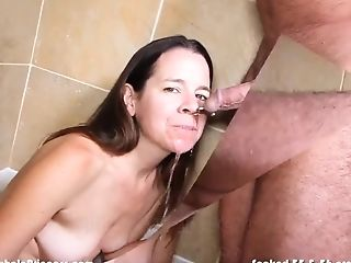 First-timer Wifey Watersports Piss Drinking Compilation