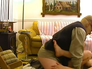 Old Man Pumps A Nubile And Cums Inwards Her Vag