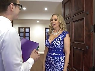 Threesome Orgy With Hot Glamour Mummy Julia Ann