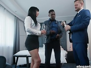 Belgium Hot Wifey Valentina Ricci Is Fucked By Spouse And His Black Companion