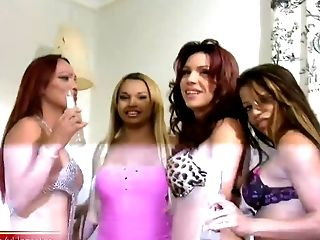 Tgirl Gfs Feast Weekend With Four-way Hump Orgy