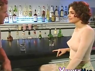 Pretty Chick Seduced For An Ass-fuck Shag In A Public Bar
