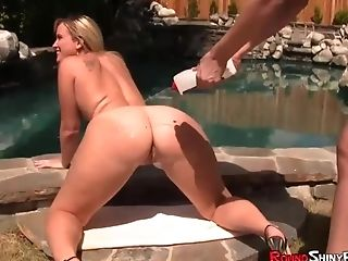 Bubble Butt Blonde Fucked