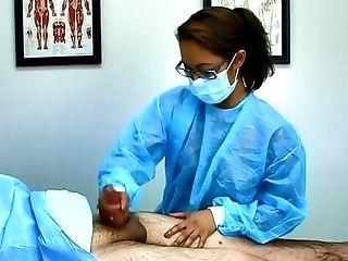 Surgical Masked Asian Doc Handjobs Chubby Boy