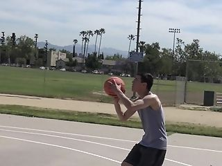 Sporty Latino Faggot Man Pounded After Shooting Hoops