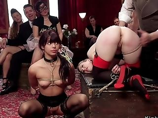 Senior And Youthful Subs Tortured Orgy