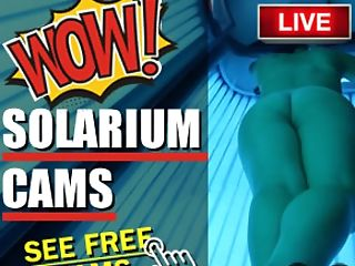 Solarium Blonde Mummy Frigs Herself In The Public Hidden Cam Solarium.tv