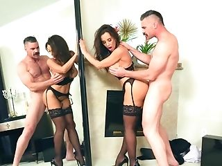 Lisa Ann Pleases Stiffy Of Charles Dera With Mouth And Cooter