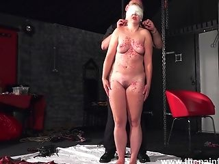 Real Whore Masie Dee Is Worth Some Paraffin Wax Session Today As Well As Tying