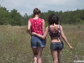 Outdoor Girl-on-girl Fuckbox Equipment Have Fun With Vika Lita And Nichol A