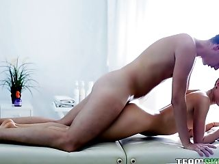 Skinny Chick Gets A Hot Rubdown And A Hard-core Fuck