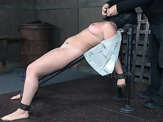 Hard-core Bondage & Discipline Kink Session With Chubby Teenager In A Miniskirt Sasha