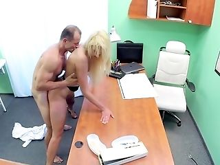 Sexually Aroused Blonde Fucked By Her Doc And Filmed In Secret